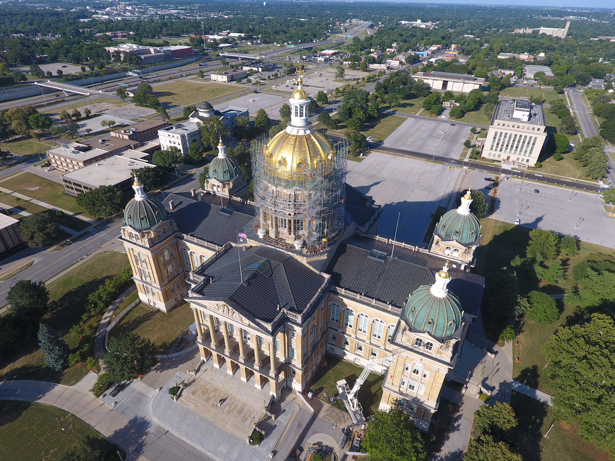 Iowa State Capital Scaffold Rental Project Overview